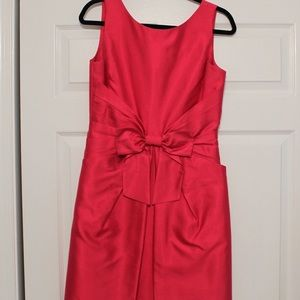 Kate Spade Bright Pink Bow Dress (Size 8)